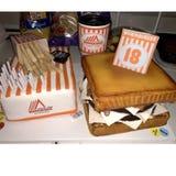 Colata del tortino dell'hamburger del formaggio di Whataburger fotografia stock