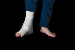Colata della gamba bianca Fotografia Stock