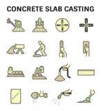Colata della lastra di cemento armato illustrazione di stock