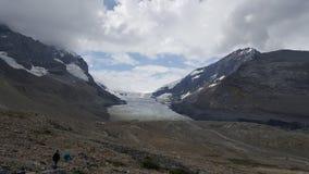 Colata glaciale che retrocede fotografia stock