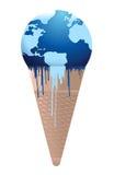 Colate della terra del gelato - concetto di riscaldamento globale Immagini Stock