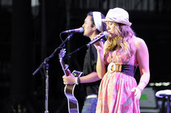 Colbie Caillat performing live. Stock Photos