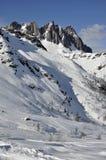 colbricon白云岩倾斜陡峭下面 图库摄影