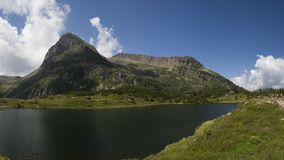 Colbricon Lake Panorama Stock Photography