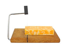Colby Jack cheese on cutting board Royalty Free Stock Images