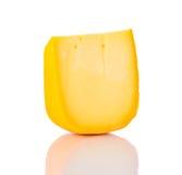 Colby Swiss Cheddar Cheese su bianco Immagini Stock Libere da Diritti