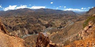 Colca峡谷河 库存图片