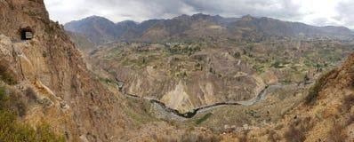 Colca峡谷 库存图片