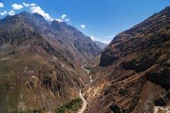 Colca谷,秘鲁 免版税库存照片