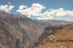 COLCA, AREQUIPA,PERU - NOVEMBER 26 - People full of expectation waiting for andean condors in Colca, Arequipa, Peru Royalty Free Stock Photography