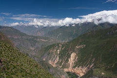 Colca Canyon. Seen from its top down into the valley Royalty Free Stock Photography
