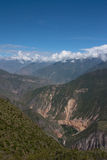 Colca Canyon. Seen from its top down into the valley Stock Photos
