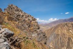 Colca Canyon from Cabanaconde in Peru stock photos