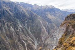 Colca Canyon, Peru Panorama stock photography