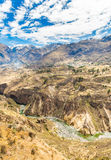 Colca Canyon, Peru,South America. Incas  to build Farming terraces  with Pond and Cliff. One of the deepest canyons in the wor Royalty Free Stock Photos