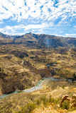 Colca Canyon, Peru,South America.  Incas to build Farming terraces with Pond and Cliff. Stock Image