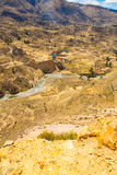 Colca Canyon, Peru,South America. Incas to build Farming terraces with Pond and Cliff. One of deepest canyons in world Stock Photo