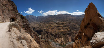 Colca canyon road Views Stock Photos