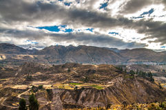 Colca Canyon View Overview Royalty Free Stock Photography
