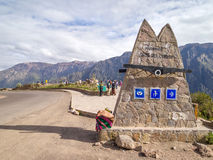 Colca Canyon View Point, Peru. Royalty Free Stock Images