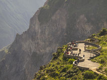 Colca canyon view point, Peru. Royalty Free Stock Photos