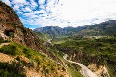 Colca kanjon Arkivbild