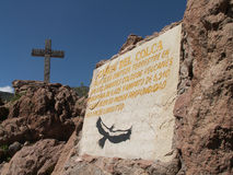 Colca kanjontecken Fotografering för Bildbyråer