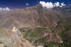 colca Peru dolina Obrazy Stock