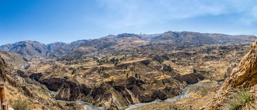 colca Peru dolina Obraz Royalty Free