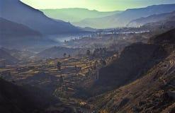 Colca Valey - terraço do Inca - Condors dirige #2 fotos de stock royalty free