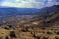 Colca Valey - terrazzo del Inca - Condors si dirige #2 fotografie stock