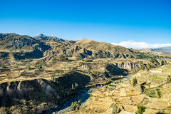 Colca Valley, Peru. Overview over Colca Valley in Peru Royalty Free Stock Photos