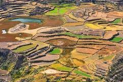 Colcacanion, canion van de Colca-rivier in zuidelijk Peru royalty-vrije stock afbeelding