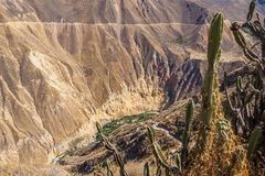 Colcacanion van Cabanaconde in Peru stock foto