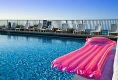 Colchón de aire rosado Imagen de archivo