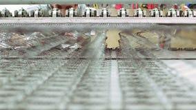 Colchón de la fabricación del trabajador almacen de metraje de vídeo