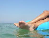 Colchón en el mar Foto de archivo libre de regalías