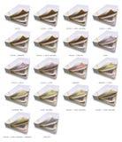 256 colchões de molas ajustados ilustração do vetor