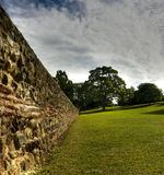 colchester罗马墙壁 免版税库存图片