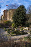 Colchester Castle and Pond Royalty Free Stock Photos