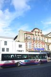 Colchester Hippodrome nightclub with bus in foreground Royalty Free Stock Image