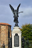 Colchester War Memorial with castle Stock Images