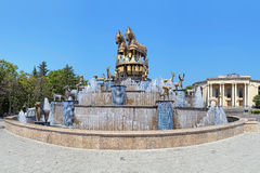 Colchian Fountain on the central square of Kutaisi, Georgia. Colchian Fountain on the central square of Kutaisi with copies of statues found at Kolkhida royalty free stock photography