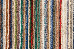 ColCorful felt carpet with vertical lines Stock Images