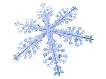 Cold. 3D-modelled snowflake representing the notion of cold weather Stock Photography