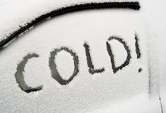 Cold! Royalty Free Stock Images