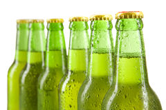 Cold alcohol drink in the bottles Royalty Free Stock Photos