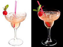 Cold alcoholic cocktail Stock Images