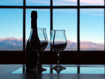 Cold And Wine Royalty Free Stock Photo