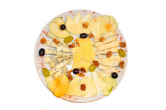 Cold appetizer cheeseboard Stock Photography